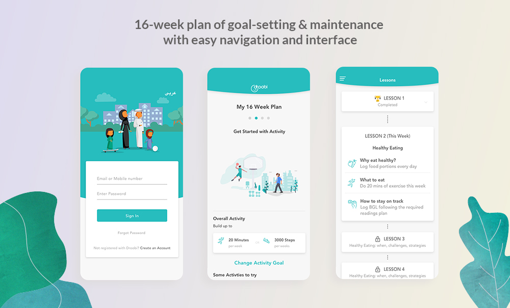 Droobi Health app mockup by VentureDive