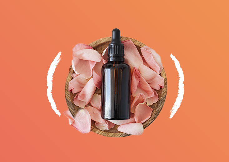 bottle in flower petals - on demand services for health and beauty