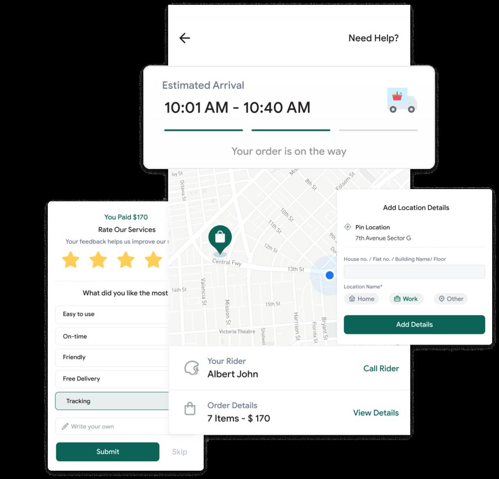 Customer tracking app