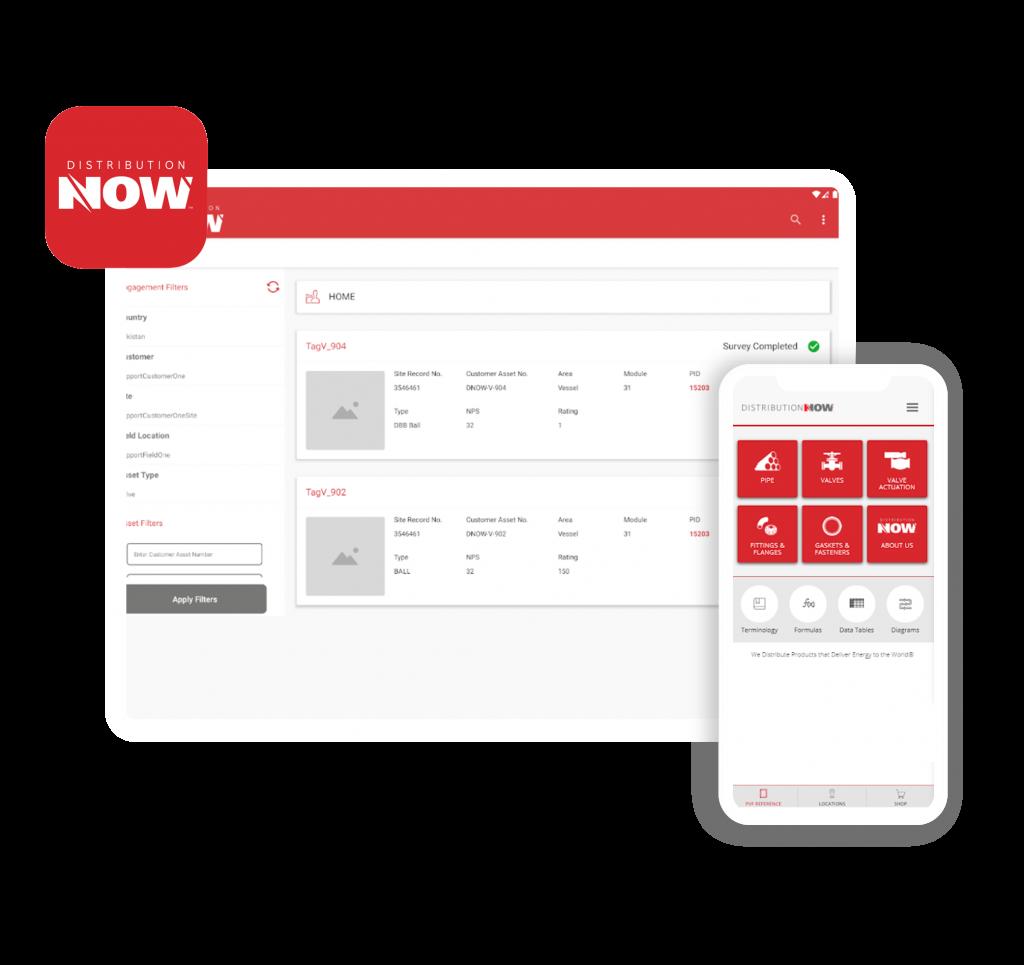 DNOW App screens - AWS client