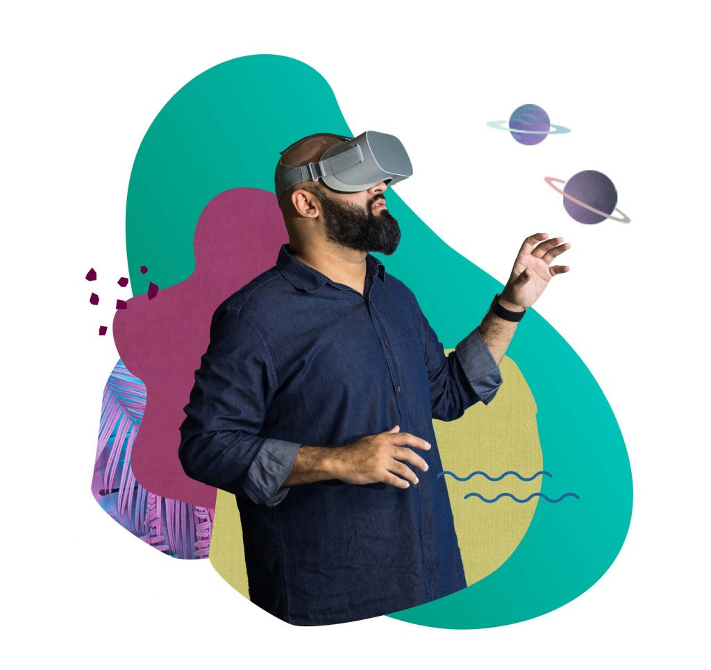 Man using a VR headset - VenD Labs