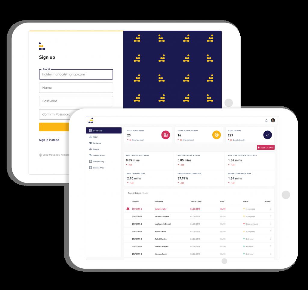 Movanos Admin App