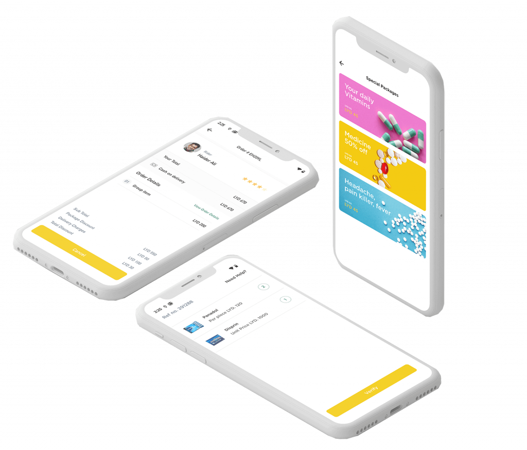 Movanos Pharmacy Delivery Solution: Patient App