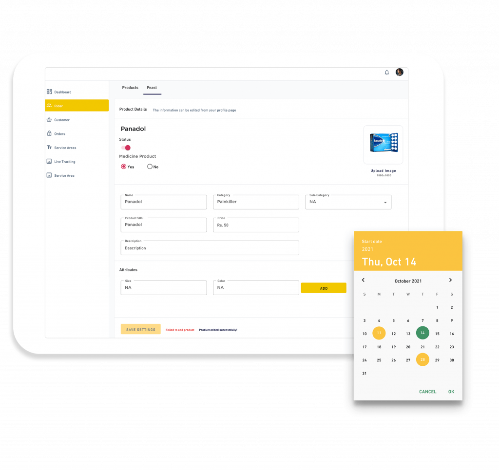 Movanos Pharmacy Delivery Solution: Admin & Operations Portal